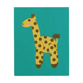 Giraffe Art Wood Canvas