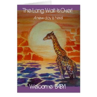 Giraffe Baby Announcement - Baby Shower - New Baby