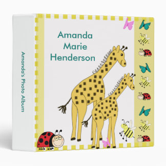 Giraffe Baby Photo Album Binder