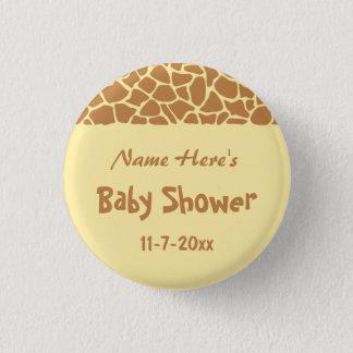 Giraffe Baby Shower 1 Inch Round Button