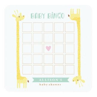 Giraffe Baby Shower Bingo Card