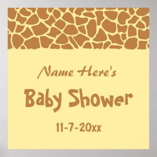 Giraffe Baby Shower Print