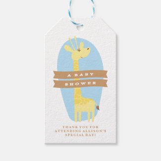 Giraffe Baby Shower Thank You Gift Tag