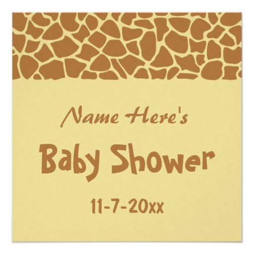 Giraffe Baby Shower Perfect Poster