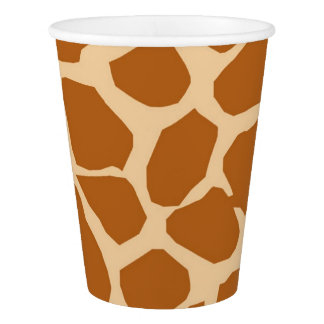 Giraffe background animal jungle glamour paper cup
