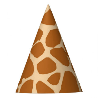 Giraffe background animal jungle safari neutral party hat