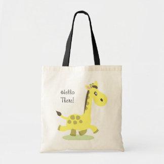 Giraffe Bag, Hello There! Tote Bag