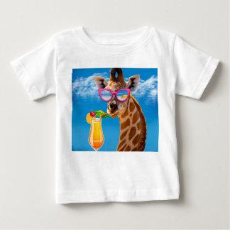 Giraffe beach - funny giraffe baby T-Shirt