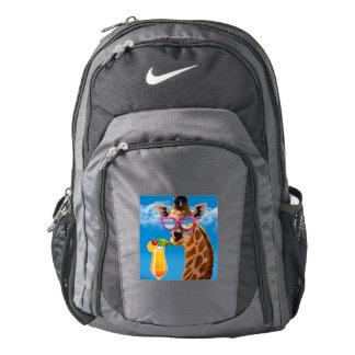 Giraffe beach - funny giraffe backpack