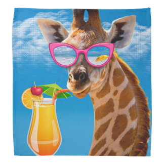 Giraffe beach - funny giraffe bandana