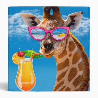Giraffe beach - funny giraffe binders
