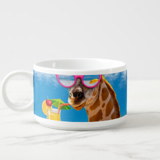 Giraffe beach - funny giraffe bowl