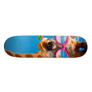 Giraffe beach - funny giraffe custom skate board