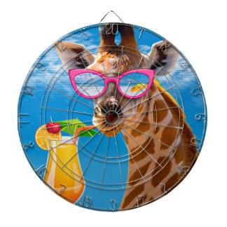 Giraffe beach - funny giraffe dartboard