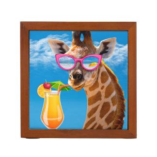 Giraffe beach - funny giraffe desk organizer