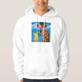 Giraffe beach - funny giraffe hoodie