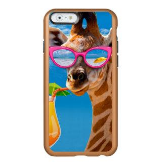 Giraffe beach - funny giraffe incipio feather® shine iPhone 6 case