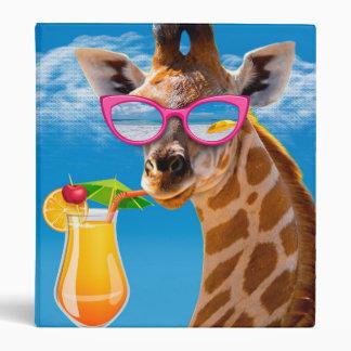 Giraffe beach - funny giraffe vinyl binder
