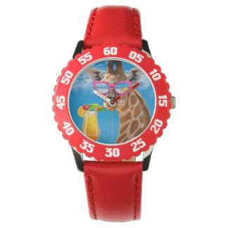 Giraffe beach - funny giraffe watch