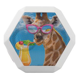 Giraffe beach - funny giraffe white bluetooth speaker