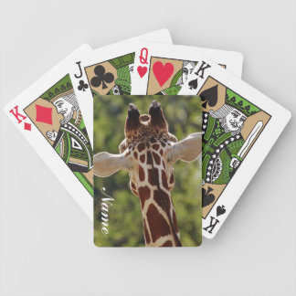 Giraffe Bicycle Playing Cards