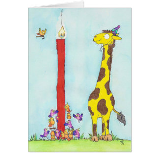 GIRAFFE BIRTHDAY greeting card by Nicole Janes