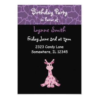 Giraffe Birthday Invitation
