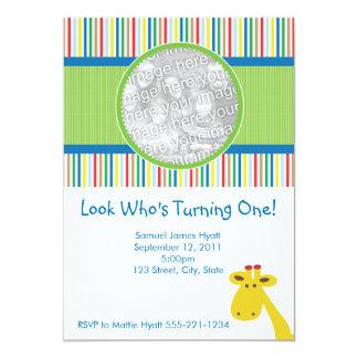 Giraffe Birthday Invitation and Announcement