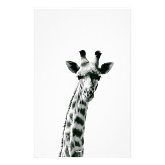 Giraffe Black and White Stationery