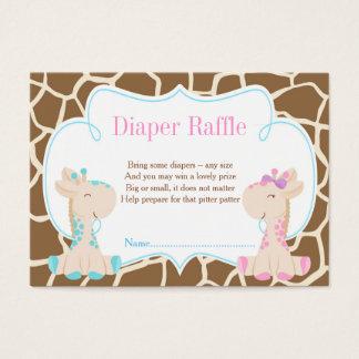 Giraffe Boy or Girl Diaper Raffle Invitation