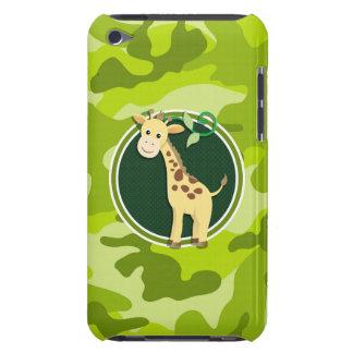 Giraffe bright green camo camouflage barely there iPod case