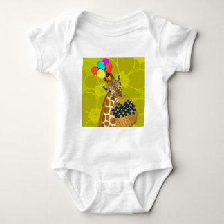 Giraffe brings congratulations. baby bodysuit