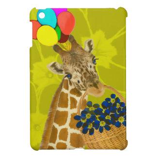 Giraffe brings congratulations. cover for the iPad mini
