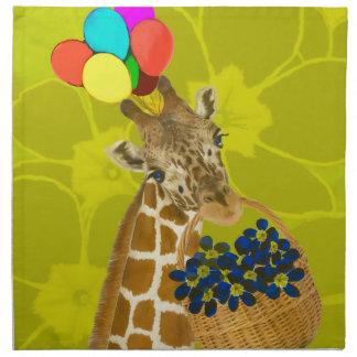 Giraffe brings congratulations. napkin