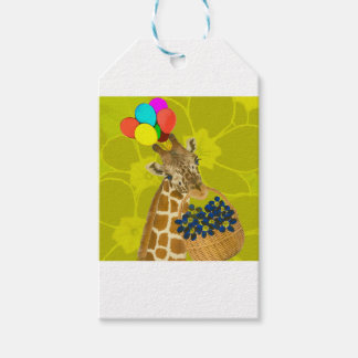 Giraffe brings congratulations. pack of gift tags