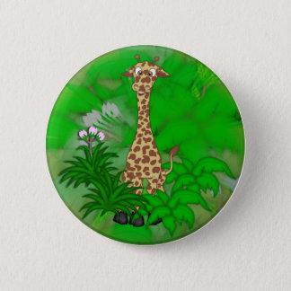 Giraffe-brown 2 Inch Round Button