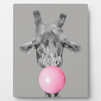 giraffe bubble plaque