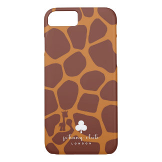 Giraffe (Burgundy-Tan) Case-Mate iPhone Case
