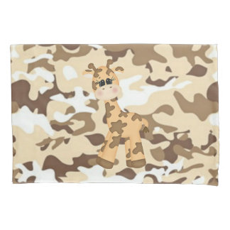 Giraffe Camoflauge Pillowcase