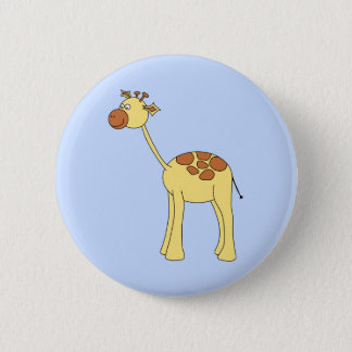 Giraffe Cartoon. 2 Inch Round Button