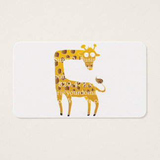 giraffe cartoon. business card