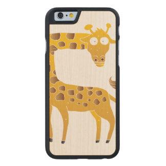 giraffe cartoon. carved® maple iPhone 6 case