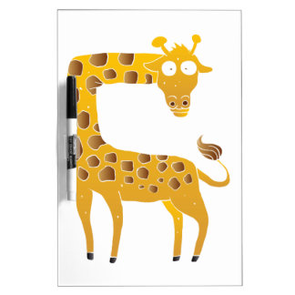 giraffe cartoon. dry erase whiteboard