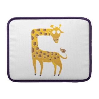 giraffe cartoon. MacBook air sleeve