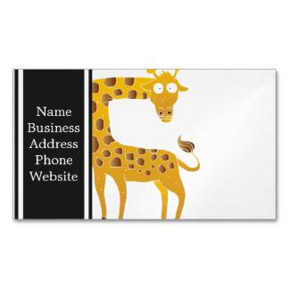 giraffe cartoon. magnetic business card