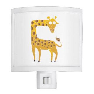 giraffe cartoon. nite lights