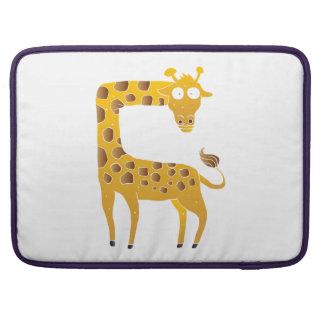giraffe cartoon. sleeves for MacBook pro