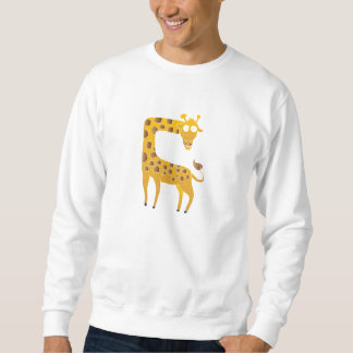 giraffe cartoon. sweatshirt