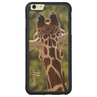 Giraffe Carved Maple iPhone 6 Plus Bumper Case