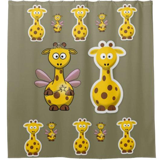 Giraffe children's shower curtain